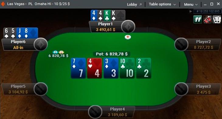 poker online table